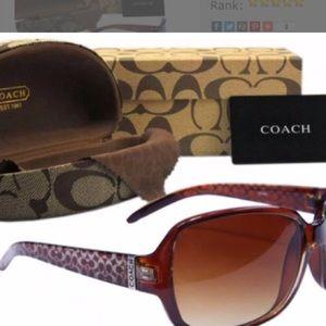 Coach bundle sunglasses and case